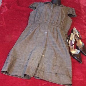 Dresses & Skirts - Brown Cotton Dress
